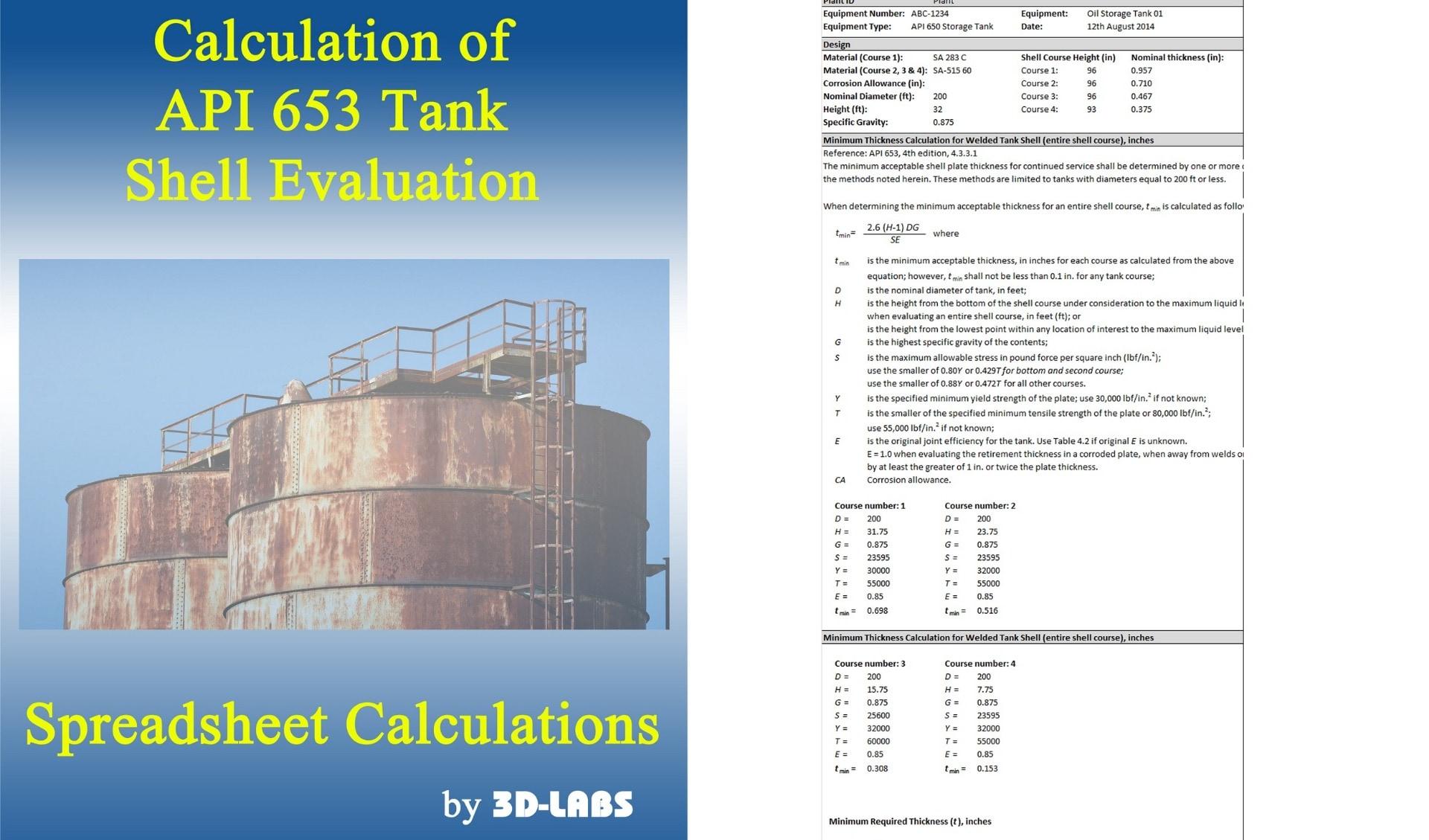 API 653 Tank Shell Evaluation