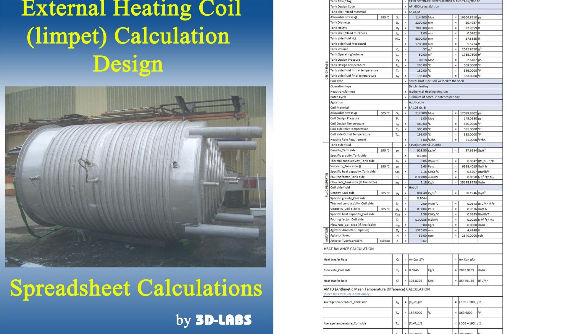 Crumbed Rubber Blend Tank, external heating coil design