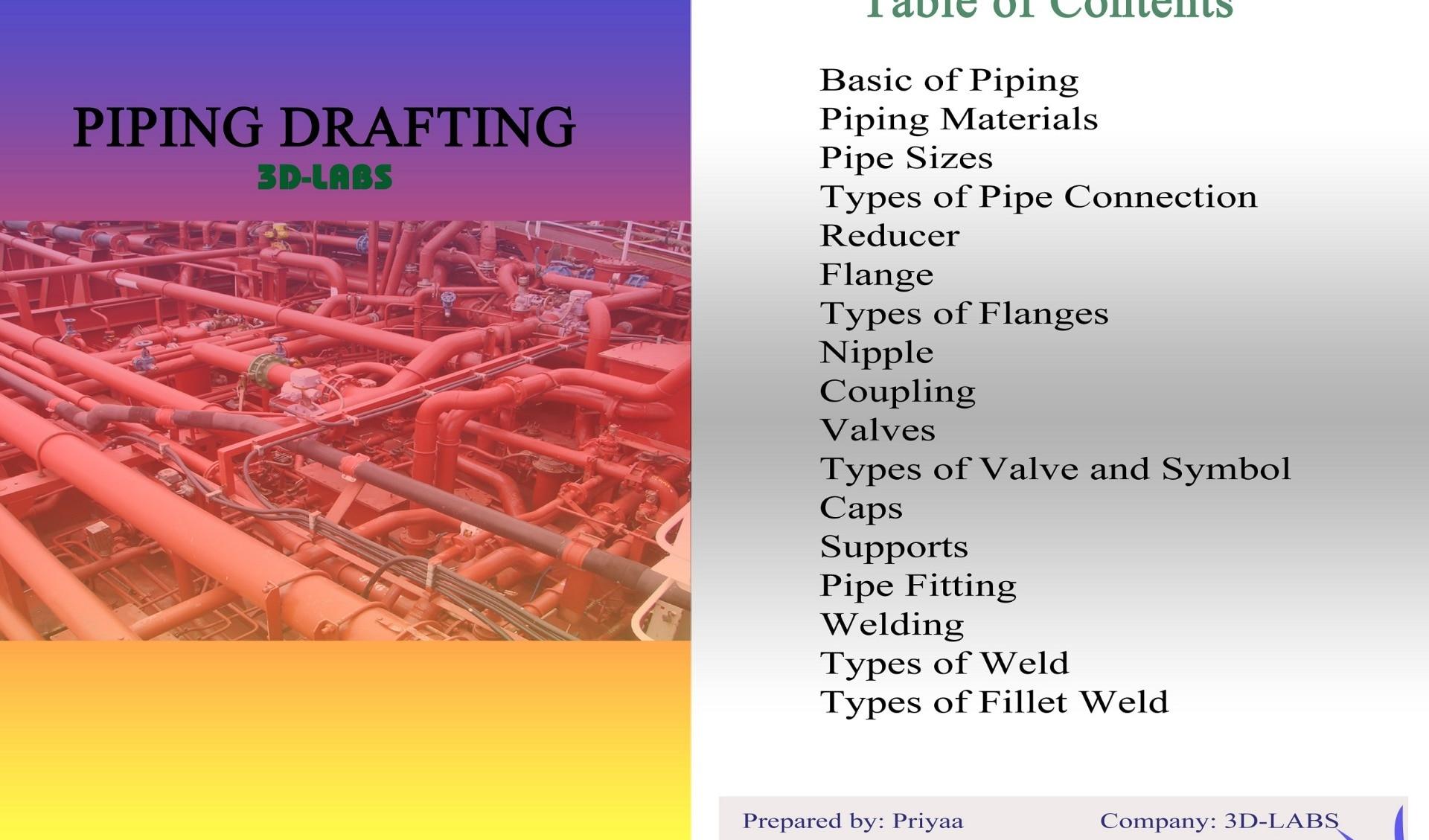Piping basic drafting