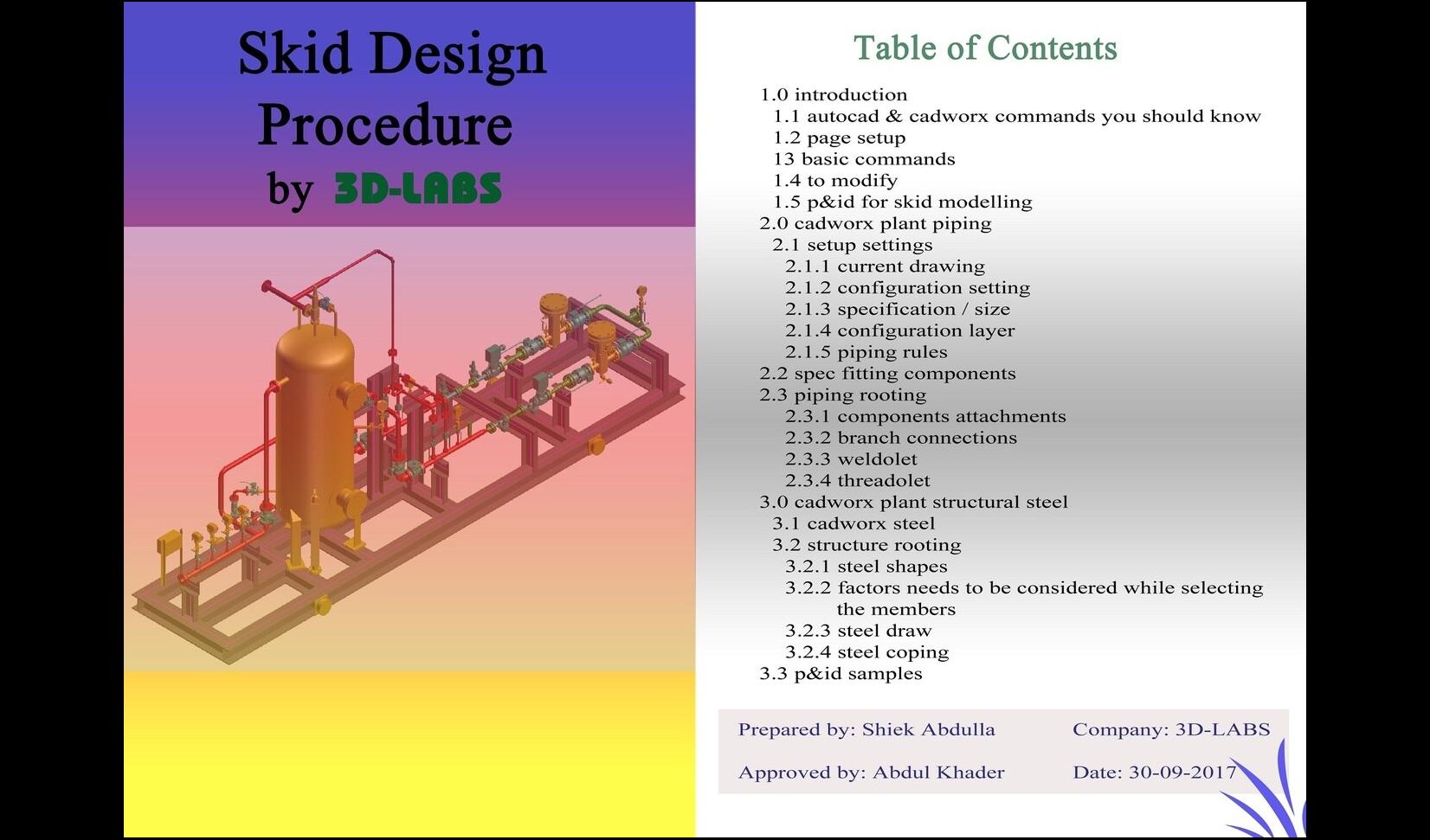 Skid Basic Design Procedure