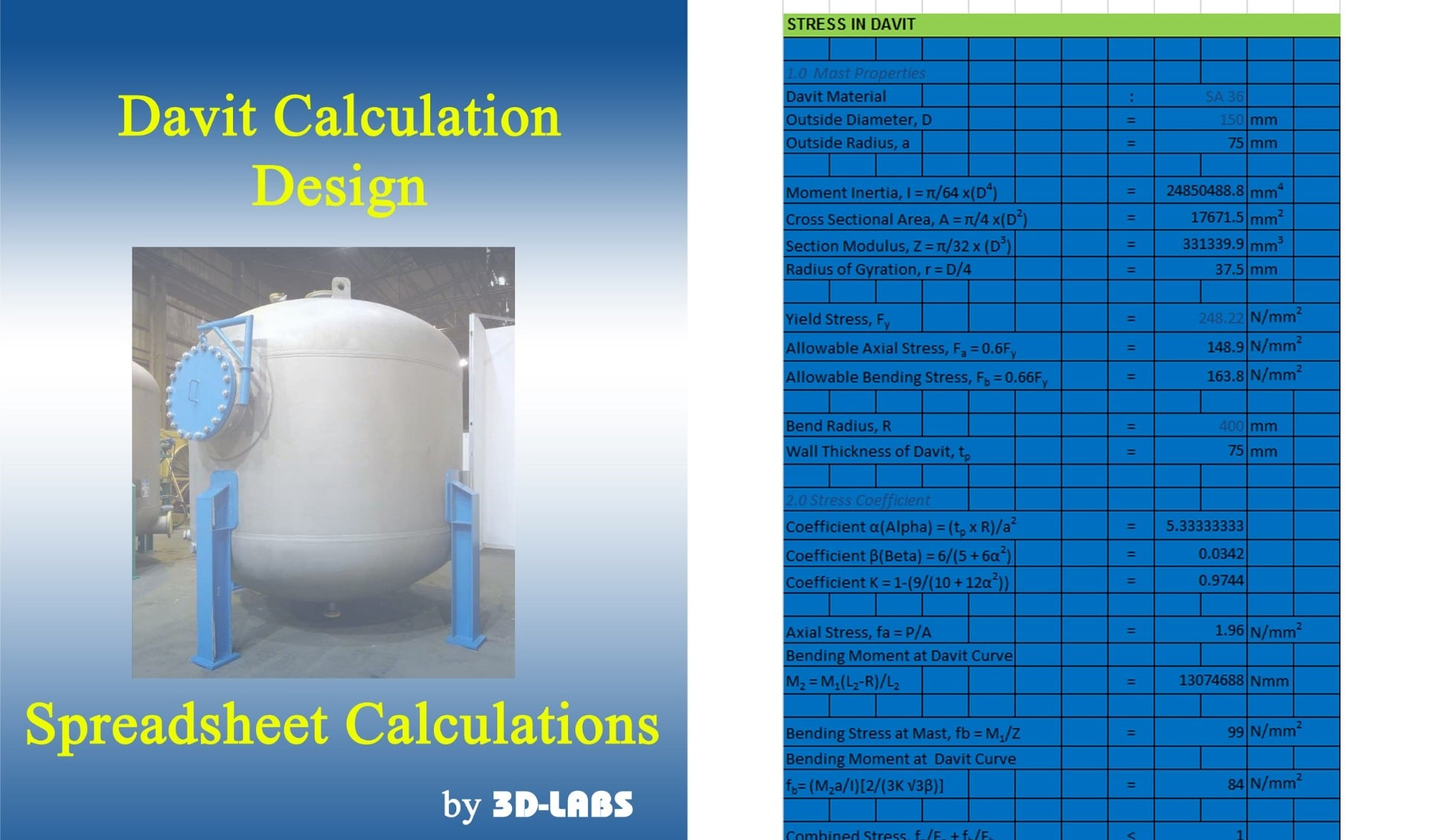 Davit Calculation Design