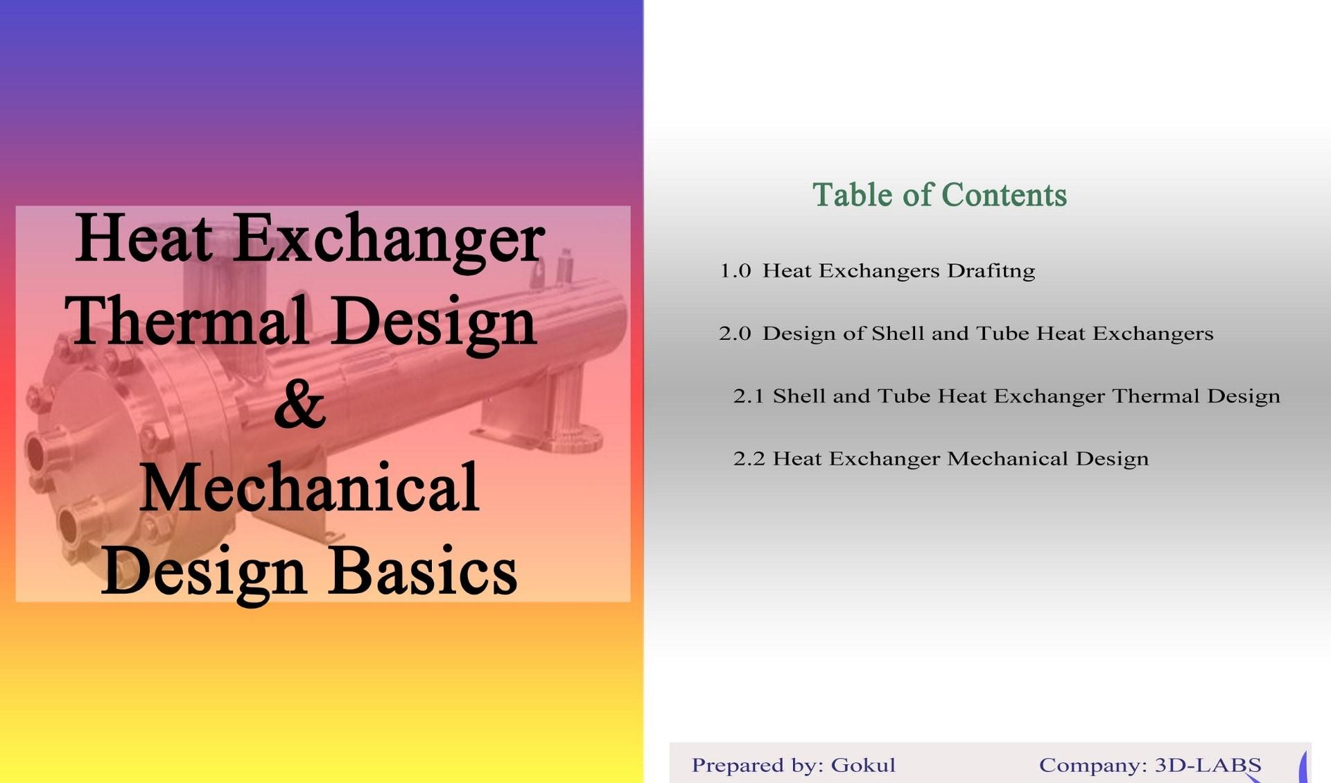 heat exchanger thermal design, mechanical design basics