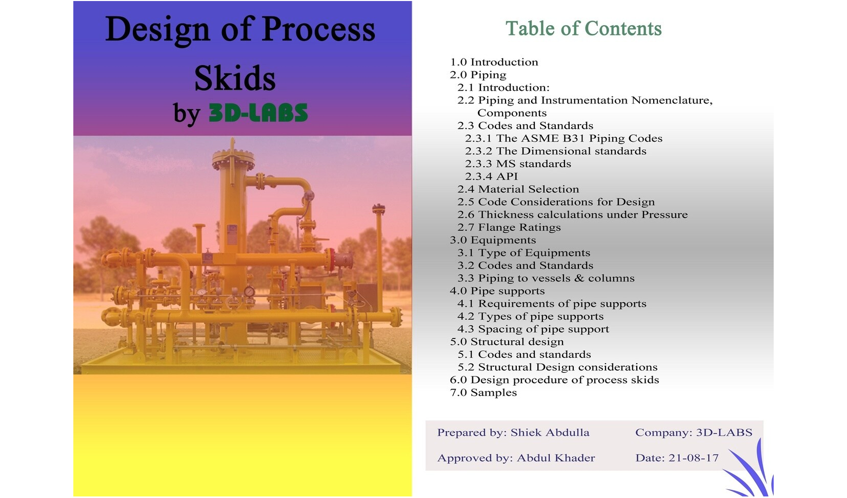 Design process of skid