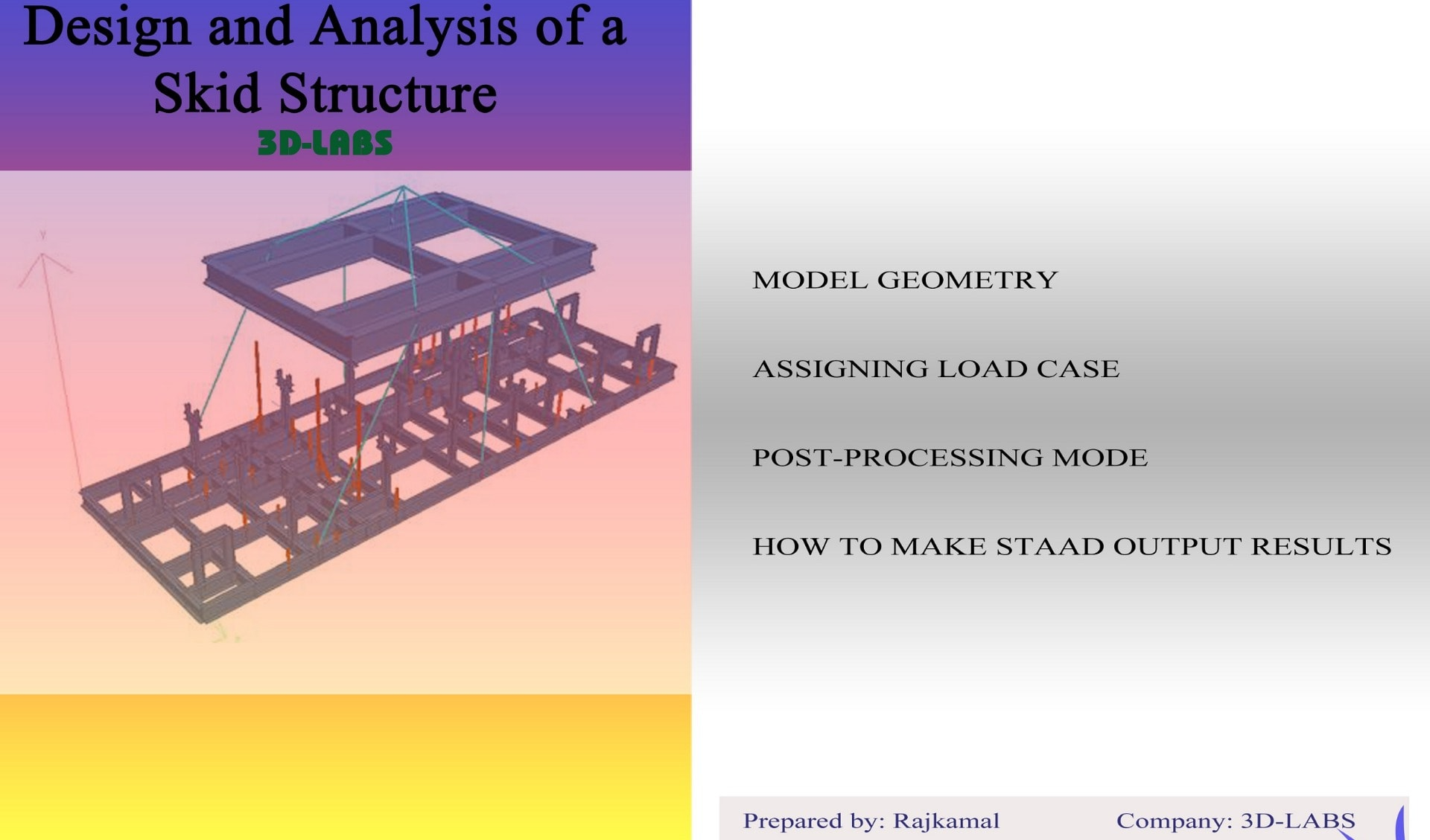 Design and Analysis skid structure