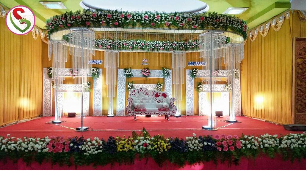 stage decoration , flower decoration, mandapam decoration, wedding decoration