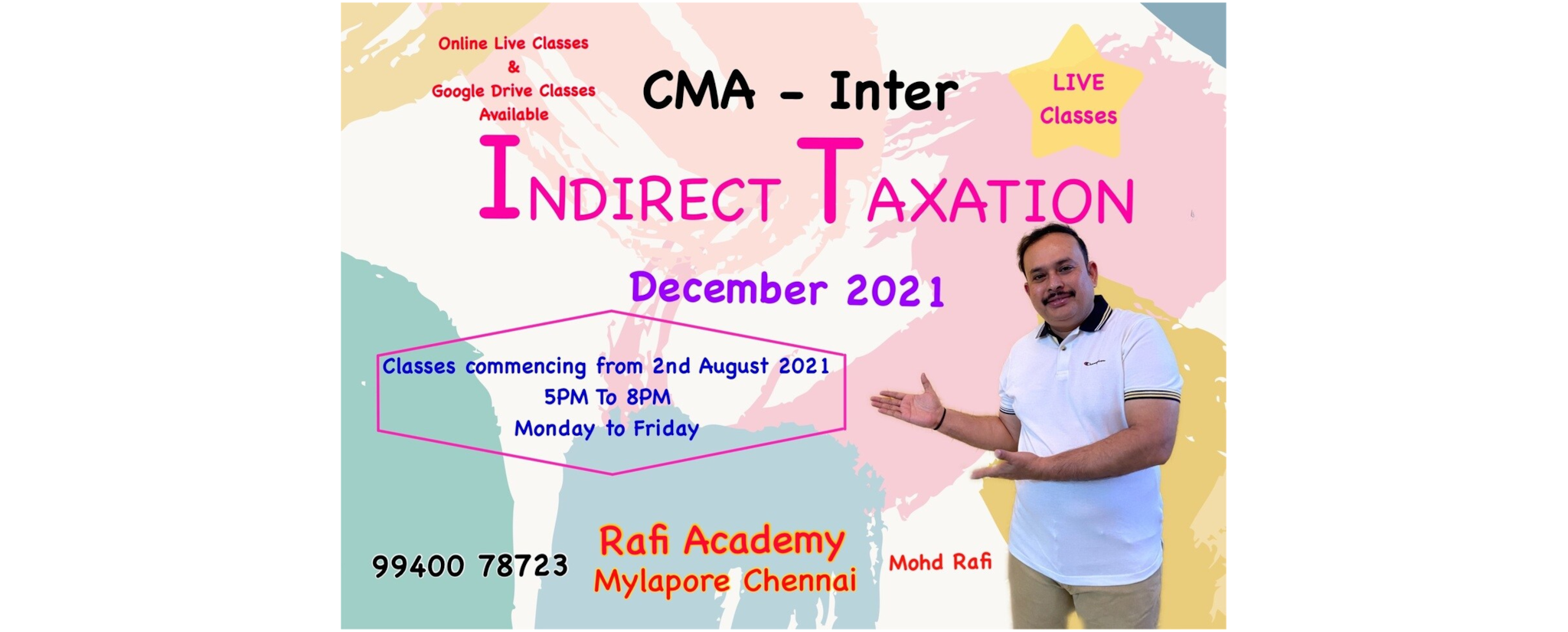 Rafi Academy - CA Coaching Classes and Tutorial Services in Mylapore, Chennai