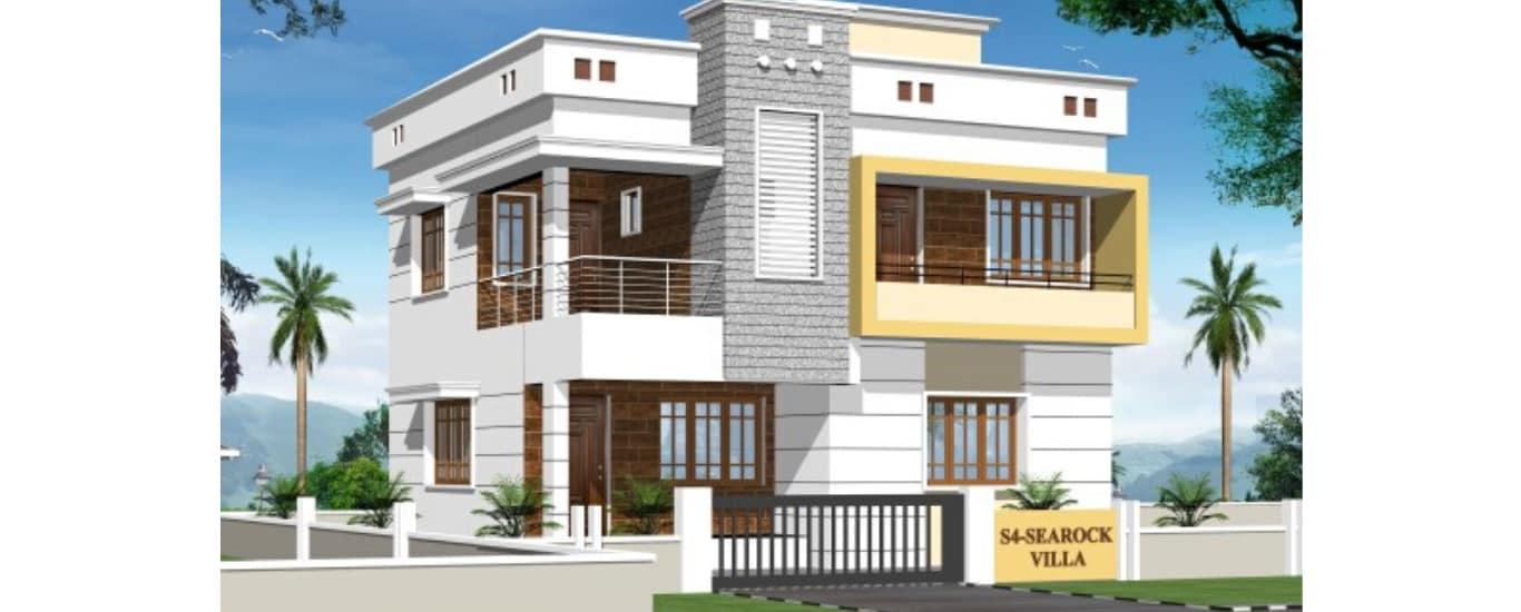 S4 Sea Rock Villa is a 3BHK duplex villa located at Madhya Junction, Surathkal