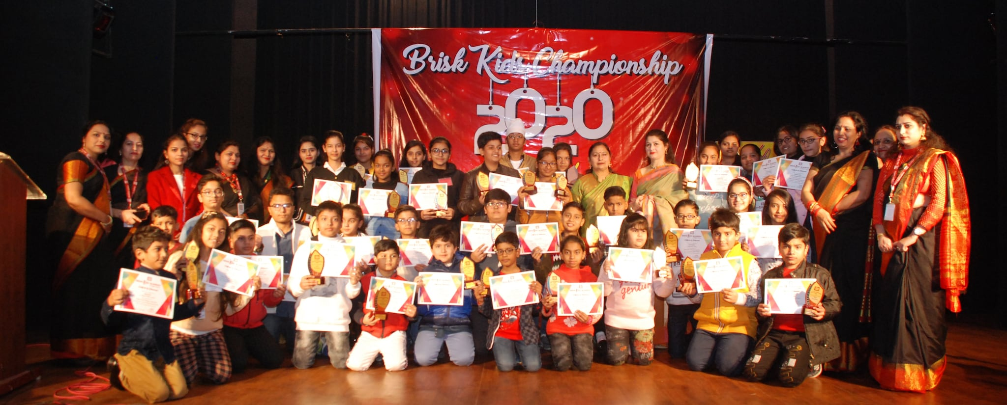Championship Awards given by Brisk Kids Academy
