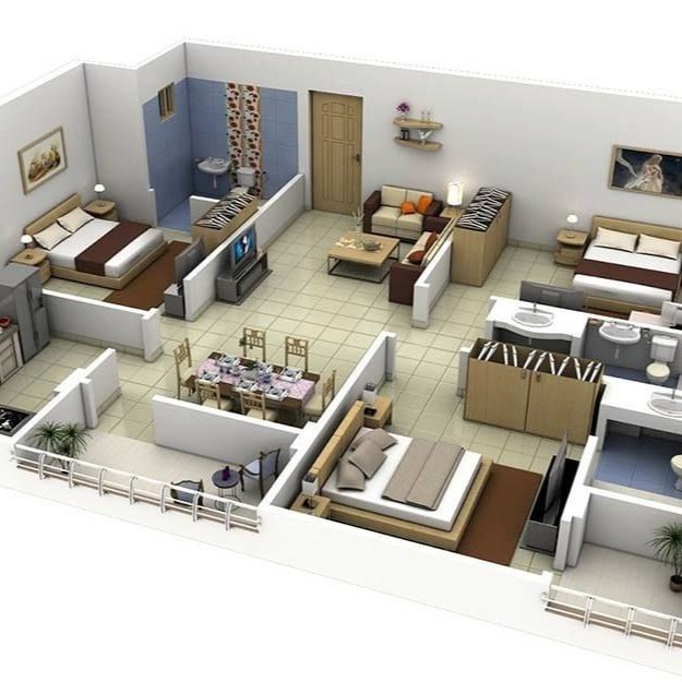 3d architect walkthrough, architectural walkthrough