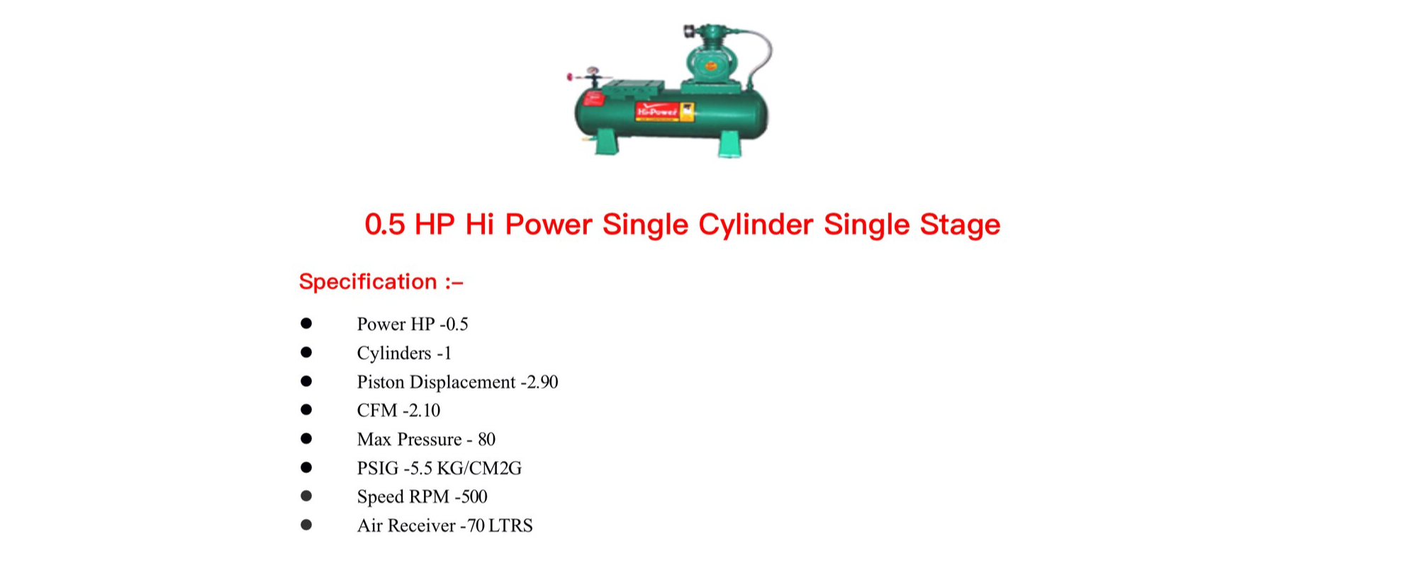 Hi-power Air Compressor - Industrial Air Compressor Dealer in Shimlapuri, Ludhiana
