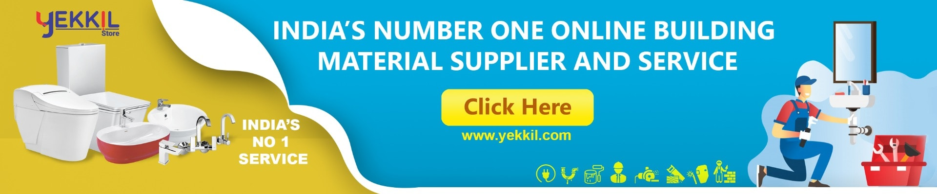 Construction material Sanitary ware and Bathroom Services in Kerala Yekkil