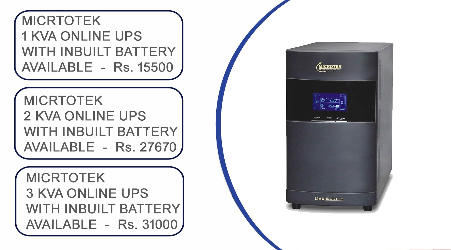 Microtek UPS & Inverter Batteries Sales & Services in Hyderabad