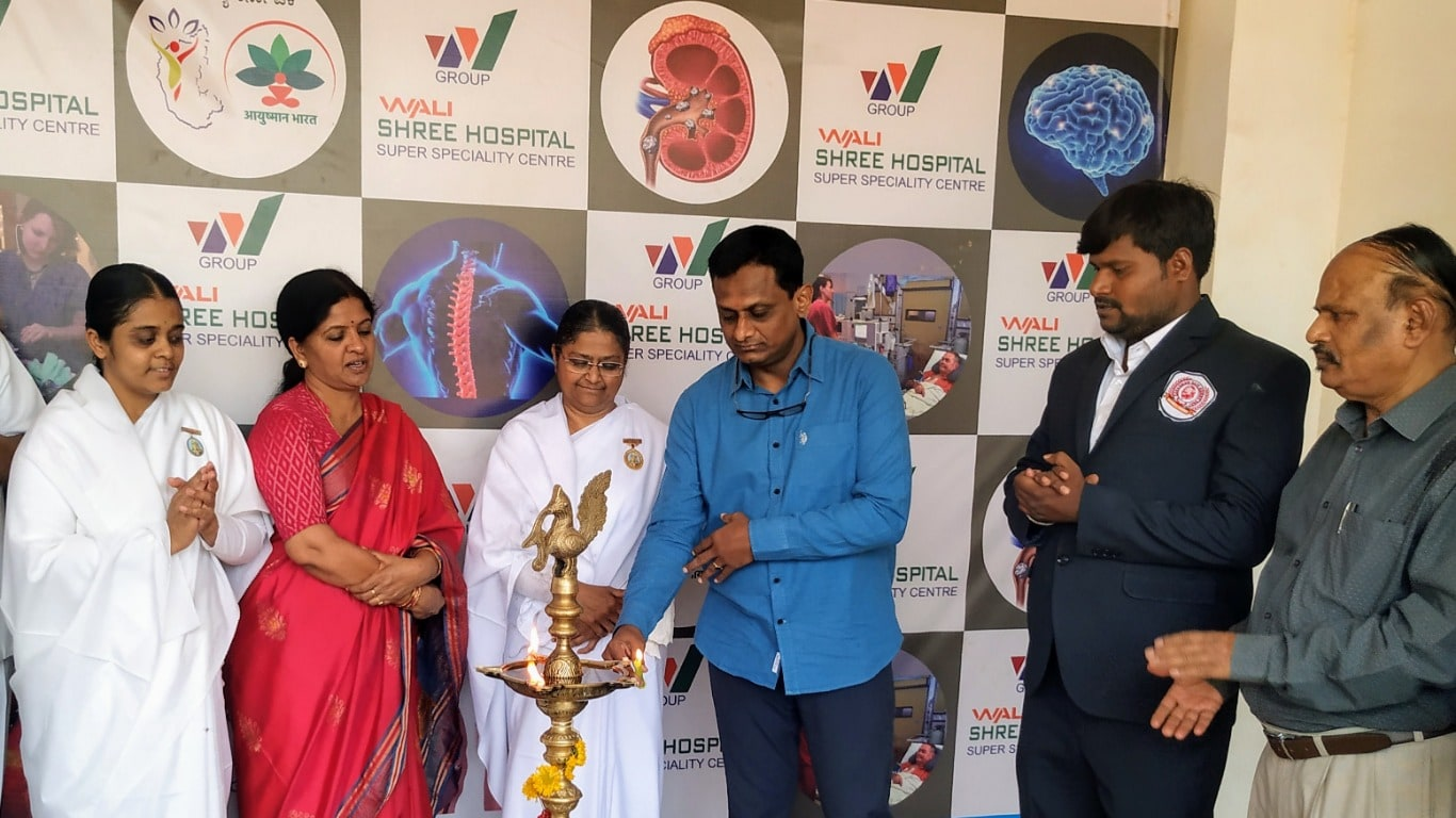 Lighting the lamp in physiotherapy Ceremony