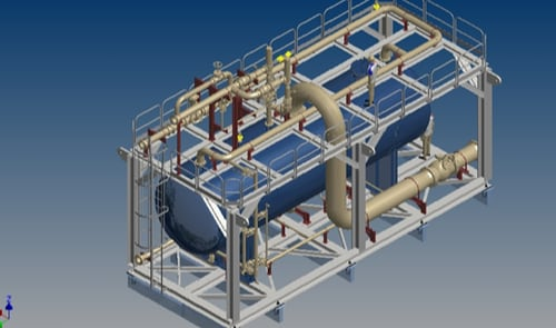 static equipment like pressure vessel and heat exchanger 3d design consult with 3d-labs.com team