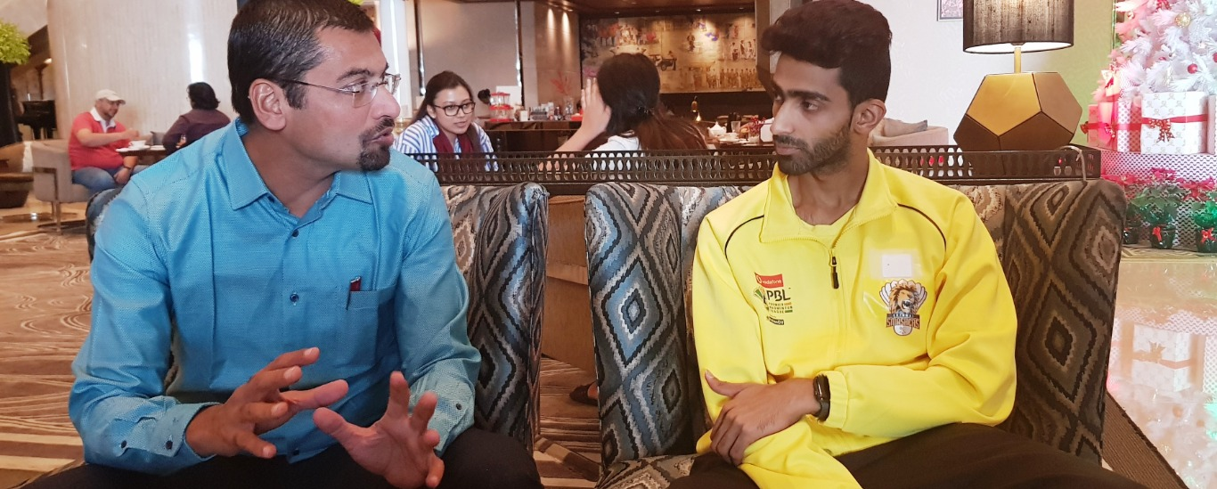 Dr Abhishek Kalantri with Olympian Sumeeth reddy, Badminton Player