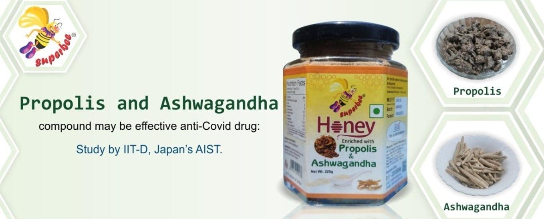 propolis and ashwgandha enriched honey
